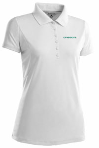 Oregon Womens Pique Xtra Lite Polo Shirt (Color: White) - Small