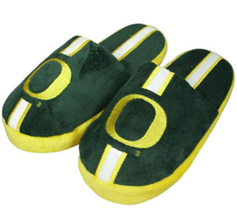 Oregon YOUTH Team Stripe Slide Slippers - Medium