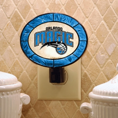Orlando Magic Art Glass Night Light