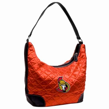 Ottawa Senators Quilted Hobo Purse