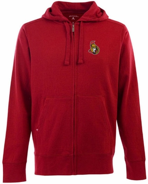 Ottawa Senators Mens Signature Full Zip Hooded Sweatshirt (Color: Red)