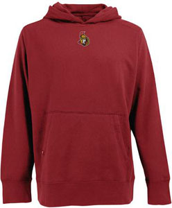 Ottawa Senators Mens Signature Hooded Sweatshirt (Color: Red) - X-Large