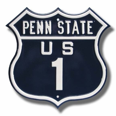 Penn State / 1 Route Sign
