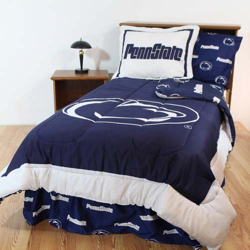 Penn State Bed In A Bag Twin With Team Colored Sheets