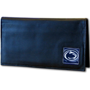 Penn State Black Leather and Nylon Checkbook Cover (F)