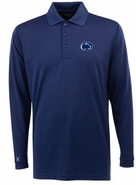 Penn State Mens Long Sleeve Polo Shirt (Color: Navy)