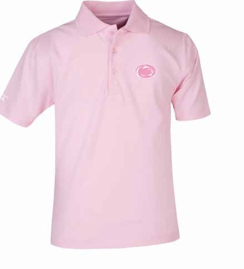 Penn State YOUTH Unisex Pique Polo Shirt (Color: Pink)
