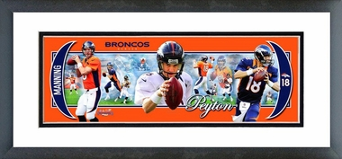 Peyton Manning 2012 Framed / Double Matted Photoramic