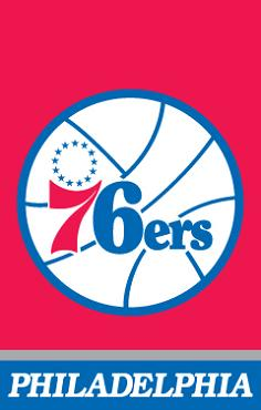 Philadelphia 76ers Applique Banner Flag