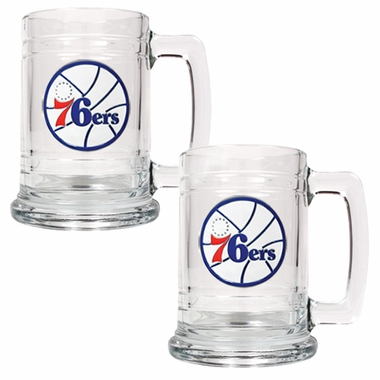 Philadelphia 76ers Set of 2 15 oz. Tankards