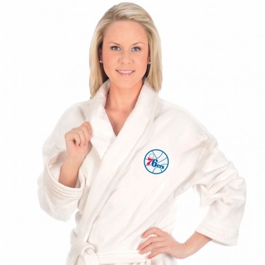 Philadelphia 76ers UNISEX Bath Robe (White)