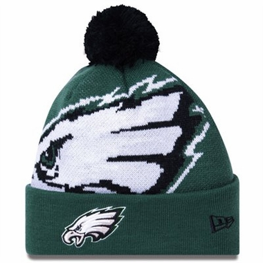 Philadelphia Eagles Biggie Cuffed Knit Hat
