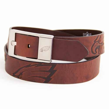 Philadelphia Eagles Brown Leather Brandished Belt
