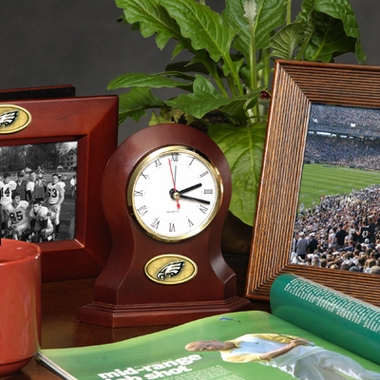 Philadelphia Eagles Desk Clock