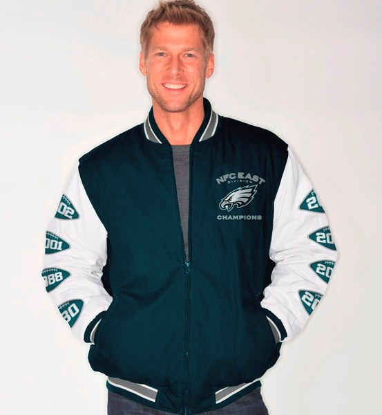 Lyst Mitc Ness Philadelphia Eagles Tailored Fit Satin Jacket In Black For Men