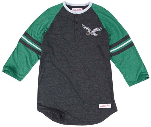 ca59a2f9992 Philadelphia Eagles Mitchell   Ness Assistant Coach Tri-Blend Henley Shirt