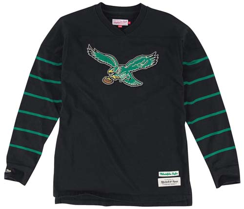 713bc831603 Philadelphia Eagles Mitchell   Ness Cornerback Premium Long Sleeve Crew  Shirt