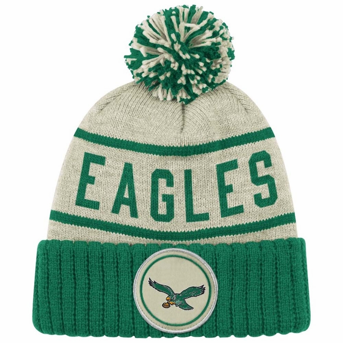 Philadelphia Eagles Mitchell Amp Ness Quot Oatmeal Quot Cuffed Knit