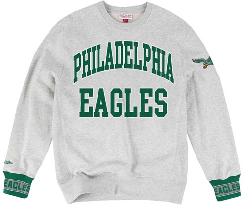596dfec5eac Philadelphia Eagles Mitchell   Ness Team Celebration Crew Sweatshirt