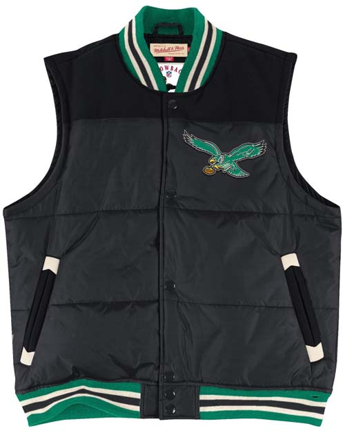 6913c1f5c51 Philadelphia Eagles Mitchell   Ness Title Throwback Snap Vest Jacket