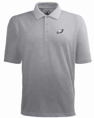 Philadelphia Eagles Mens Pique Xtra Lite Polo Shirt (Color: Gray)