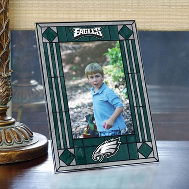 Philadelphia Eagles Portrait Art Glass Picture Frame