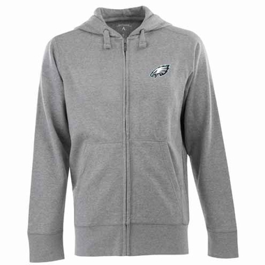 Philadelphia Eagles Mens Signature Full Zip Hooded Sweatshirt (Color: Gray)