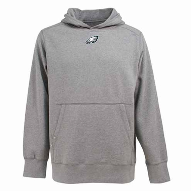 Philadelphia Eagles Mens Signature Hooded Sweatshirt (Color: Silver)