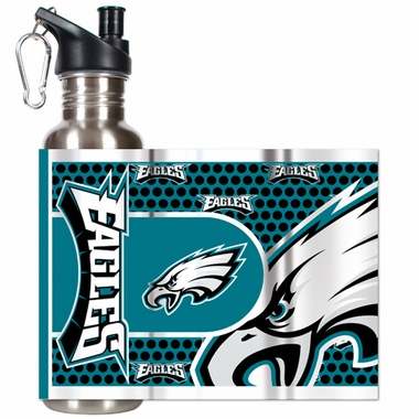 Philadelphia Eagles Stainless Steel Water Bottle with Hi-Def Graphics