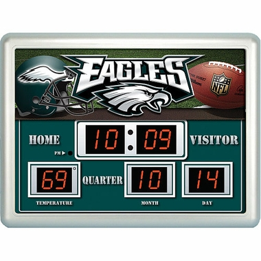 Philadelphia Eagles Time / Date / Temp. Scoreboard