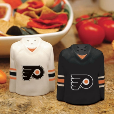 Philadelphia Flyers Ceramic Jersey Salt and Pepper Shakers