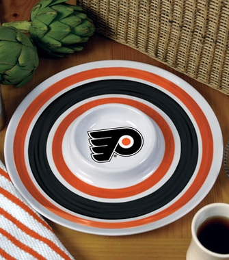 Philadelphia Flyers Plastic Chip and Dip Plate