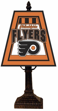 Philadelphia Flyers Small Art Glass Lamp