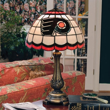 Philadelphia Flyers Stained Glass Table Lamp