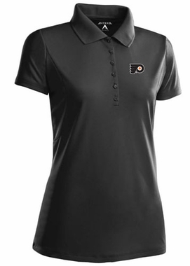 Philadelphia Flyers Womens Pique Xtra Lite Polo Shirt (Color: Black)