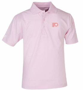 Philadelphia Flyers YOUTH Unisex Pique Polo Shirt (Color: Pink) - Medium