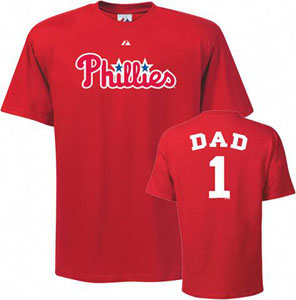 Philadelphia Phillies #1 Dad T-Shirt - X-Large