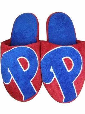 Philadelphia Phillies 2011 Big Logo Hard Sole Slippers (Two Tone)