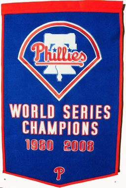"Philadelphia Phillies 24""x36"" Dynasty Wool Banner"