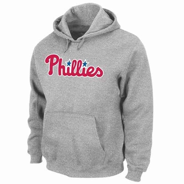 Philadelphia Phillies .300 Hitter Hooded Sweatshirt - Grey