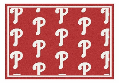 "Philadelphia Phillies 5'4"" x 7'8"" Premium Pattern Rug"