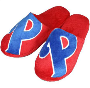 Philadelphia Phillies Big Logo Hard Sole Slippers - X-Large