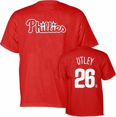 Philadelphia Phillies Chase Utley Name and Number T-Shirt