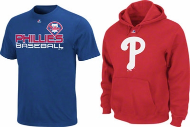 Philadelphia Phillies Control Pitcher Hoody & T-Shirt Combo