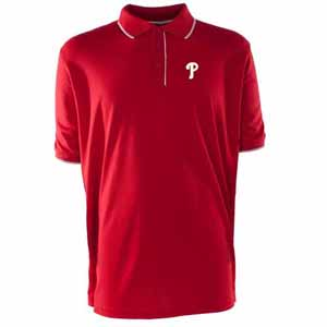 Philadelphia Phillies Mens Elite Polo Shirt (Color: Red) - X-Large