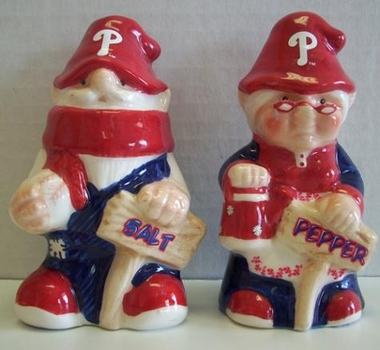 Philadelphia Phillies Gnome Salt & Pepper Shakers