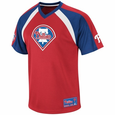 Philadelphia Phillies Jetstream V-Neck Navy Jersey
