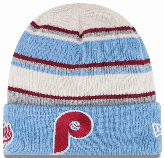 Philadelphia Phillies New Era Winter Tradition Cooperstown Cuffed Knit Hat cf7d15ef375
