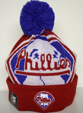 Philadelphia Phillies New Era Woven Biggie Cuffed Knit Hat