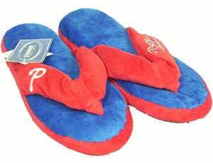 Philadelphia Phillies Plush Thong Slippers - Small